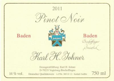 """2011 K. H. Johner Pinot Noir """"Bischoffinger Steinbuck"""" - Vinbutikken.dk"""