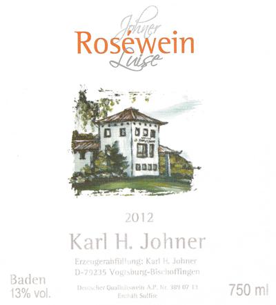 """Årgang 2012 - K.H. Johner - Rosé """"Luise"""""""